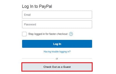 pay in paypal without account