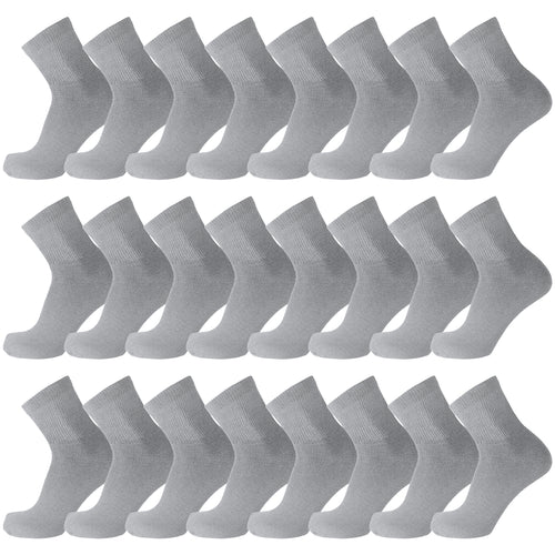 60 Pairs of Diabetic Low Cut Athletic Sport Ankle Socks (Grey)