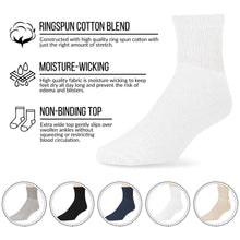Load image into Gallery viewer, 60 Pairs of Diabetic Low Cut Athletic Sport Ankle Socks (Navy)