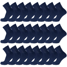 Load image into Gallery viewer, Navy Diabetic Quarter Length Sport Cotton Socks 60 Pairs Bulk