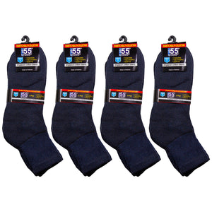 Packs Of Navy Athletic Socks Recommended For Symptoms Of Diabetes Edema And Neuropathy Cotton Blend