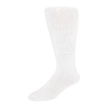Load image into Gallery viewer, 6 pairs Extra Wide Diabetic Socks, Crew/Over-the-Calf  Medical Swollen Feet Socks (White)