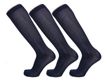 Load image into Gallery viewer, 3 Pairs of Compression Knee High Stocking 10-20 mmHg, Medical Circulation Socks for Women & Men