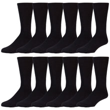 Load image into Gallery viewer, 12 Pairs of Cotton Tube Athletic Sport Referee Style Socks, Size 10-13