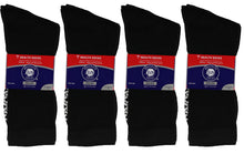 Load image into Gallery viewer, 12 Pairs Of Black Non Slip Diabetic Crew Socks With Non Skid Sole Recommended For Diabetes Neuropathy