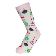 Load image into Gallery viewer, 12 Pairs of Women's Christmas Fun Printed Colorful Crew Holiday Socks (Sock Size 9-11)