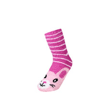 Load image into Gallery viewer, 12 Pairs of Women's/Girl's Fuzzy Soft Plush Slipper Socks, Fluffy Winter Warm Cozy Animal Print Socks (Sock Size 9-11)