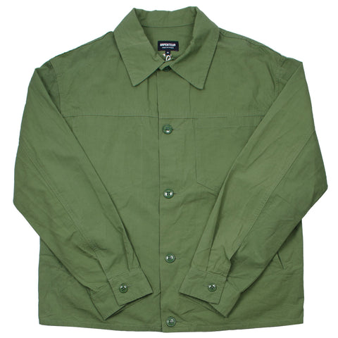 Arpenteur - Eddie Cotton-Linen Slub Canvas Jacket - Green