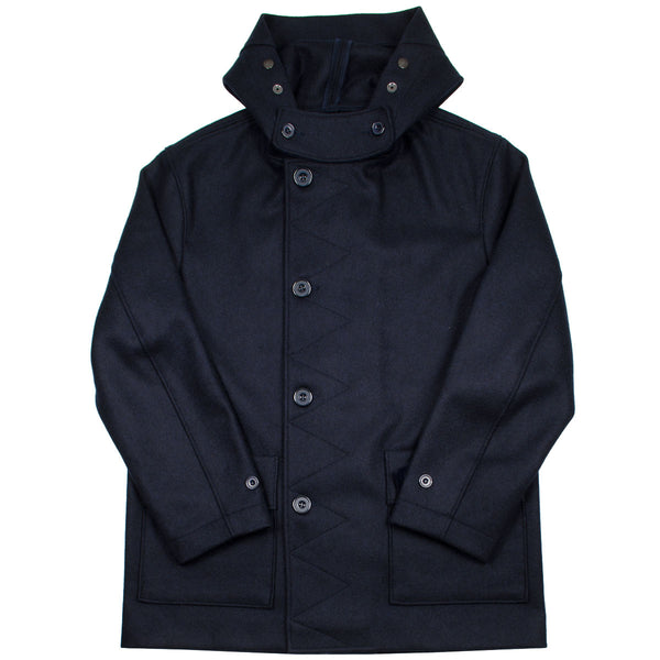Arpenteur - Kabig Melton Wool Jacket - Navy