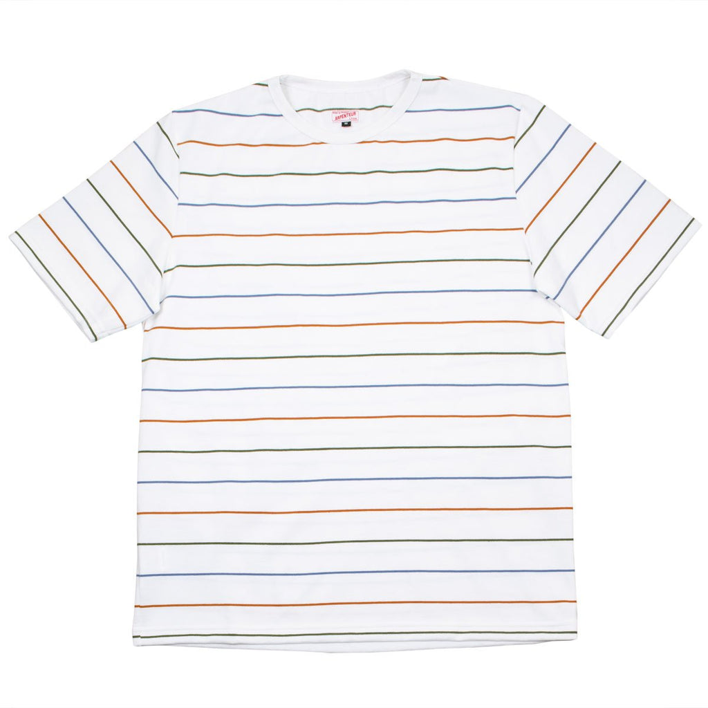 Arpenteur - Match Cotton Jersey - Blue / Olive / Orange Stripes