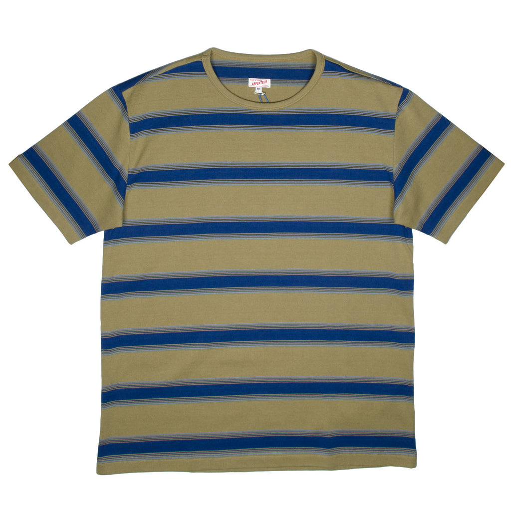 Arpenteur - Match T-shirt - Sand / Quadruple Blue