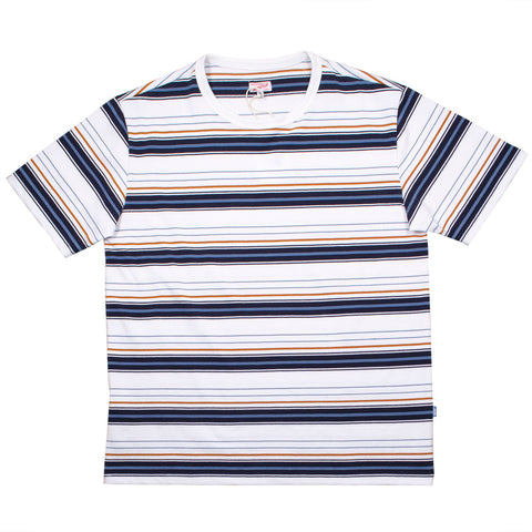 Arpenteur - Match T-shirt - White / Navy / Orange / Blue