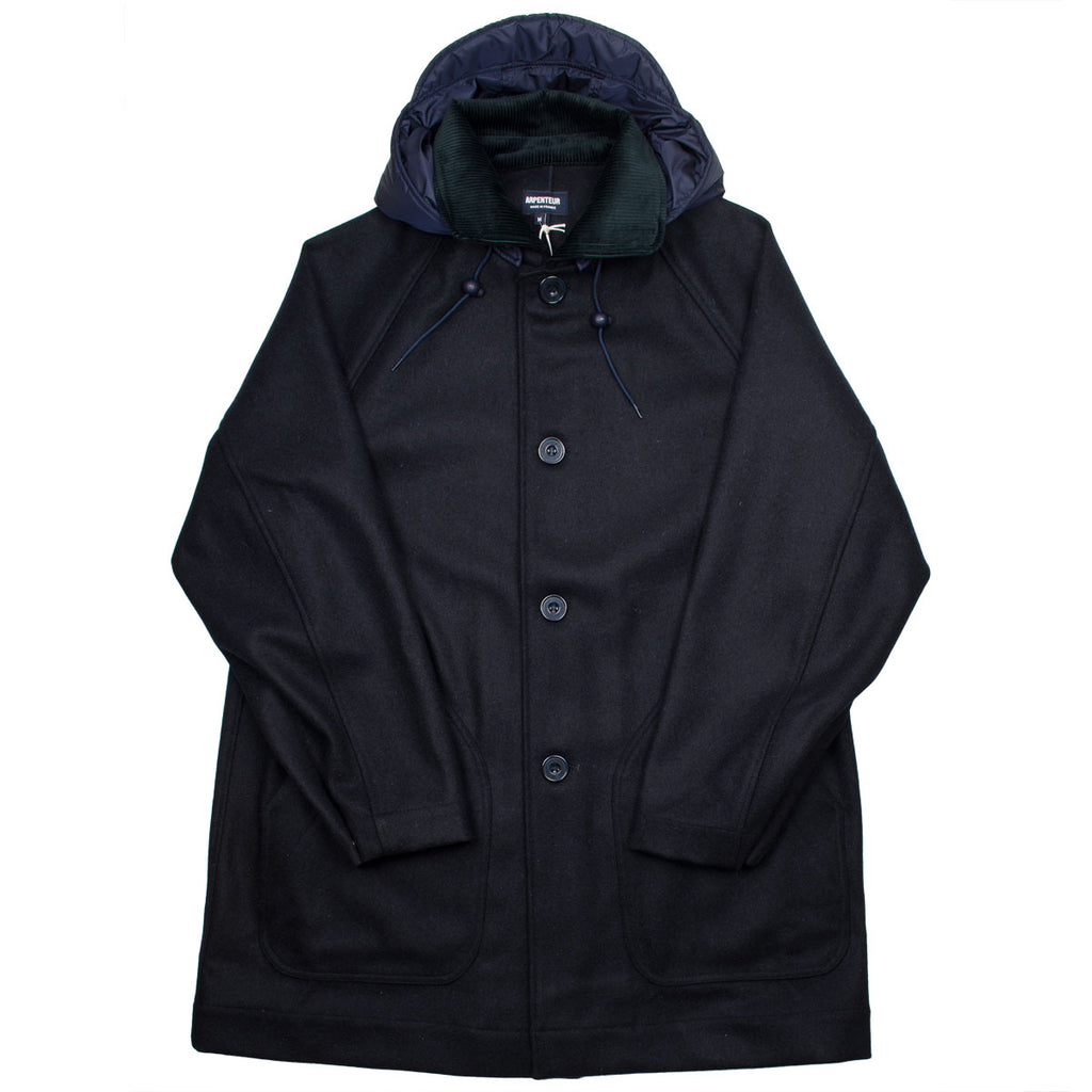 Arpenteur - Mevi Melton Wool Coat - Navy