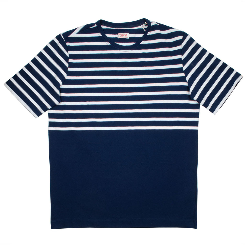 Arpenteur - Rachel Knit Striped T-shirt - Navy / White