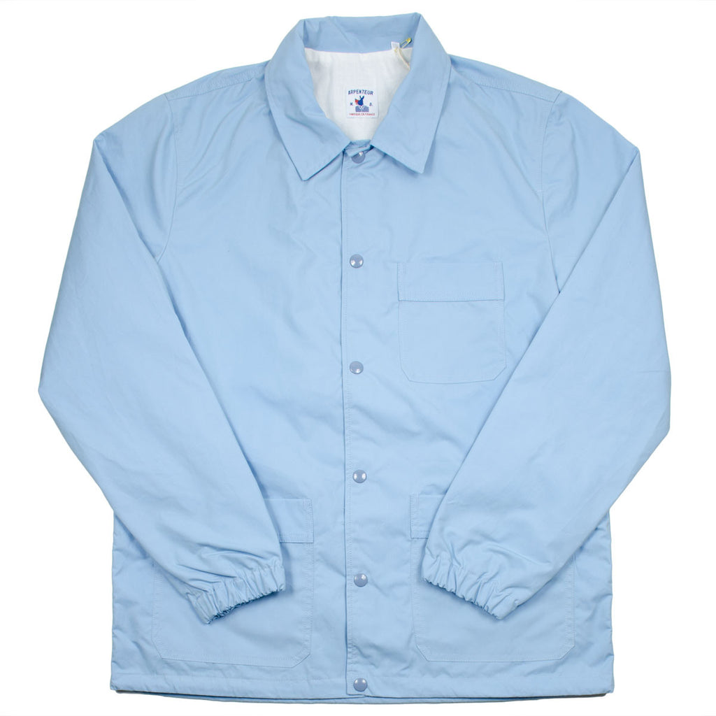 Arpenteur - Stade Coach Jacket – Light Blue (Evian) Sail Gabardine