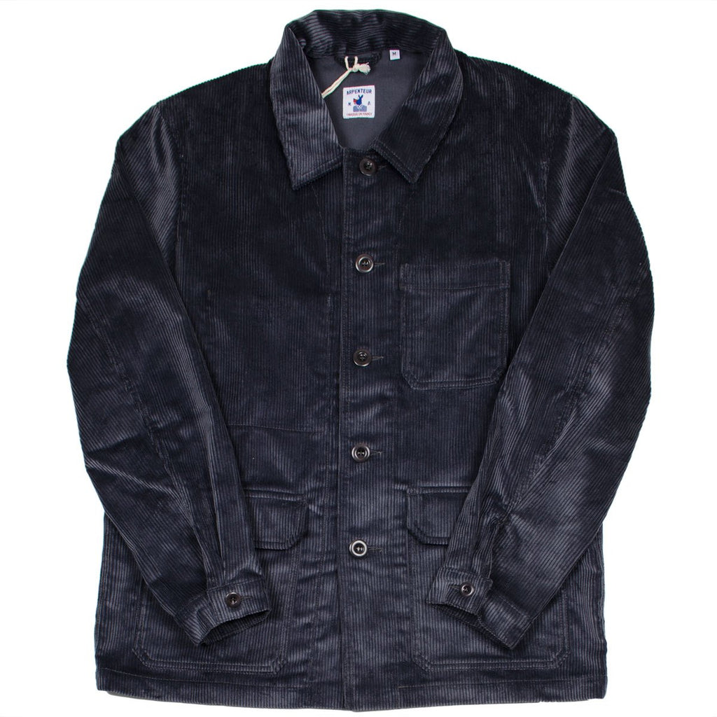 Arpenteur - Travail Work Jacket - Grey Heavy Corduroy