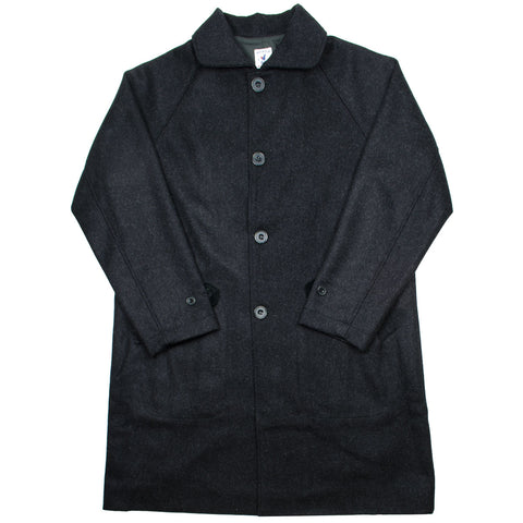Arpenteur - Utile Melton Wool Coat - Charcoal