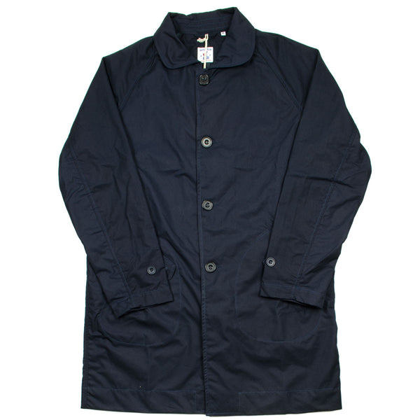 Arpenteur - Utile Raincoat - Navy Sail Garbardine