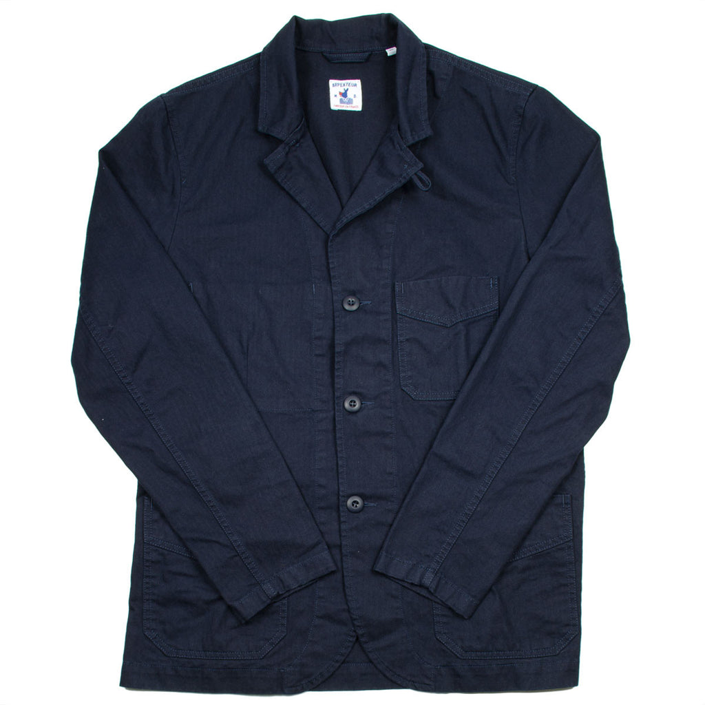 Arpenteur - Villefranche Jacket - Navy Cotton Herringbone