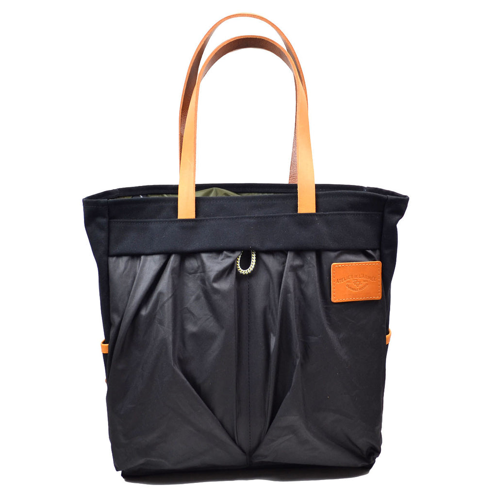 Atelier de l'Armée - Flight Carrier - Black with Brown Leather