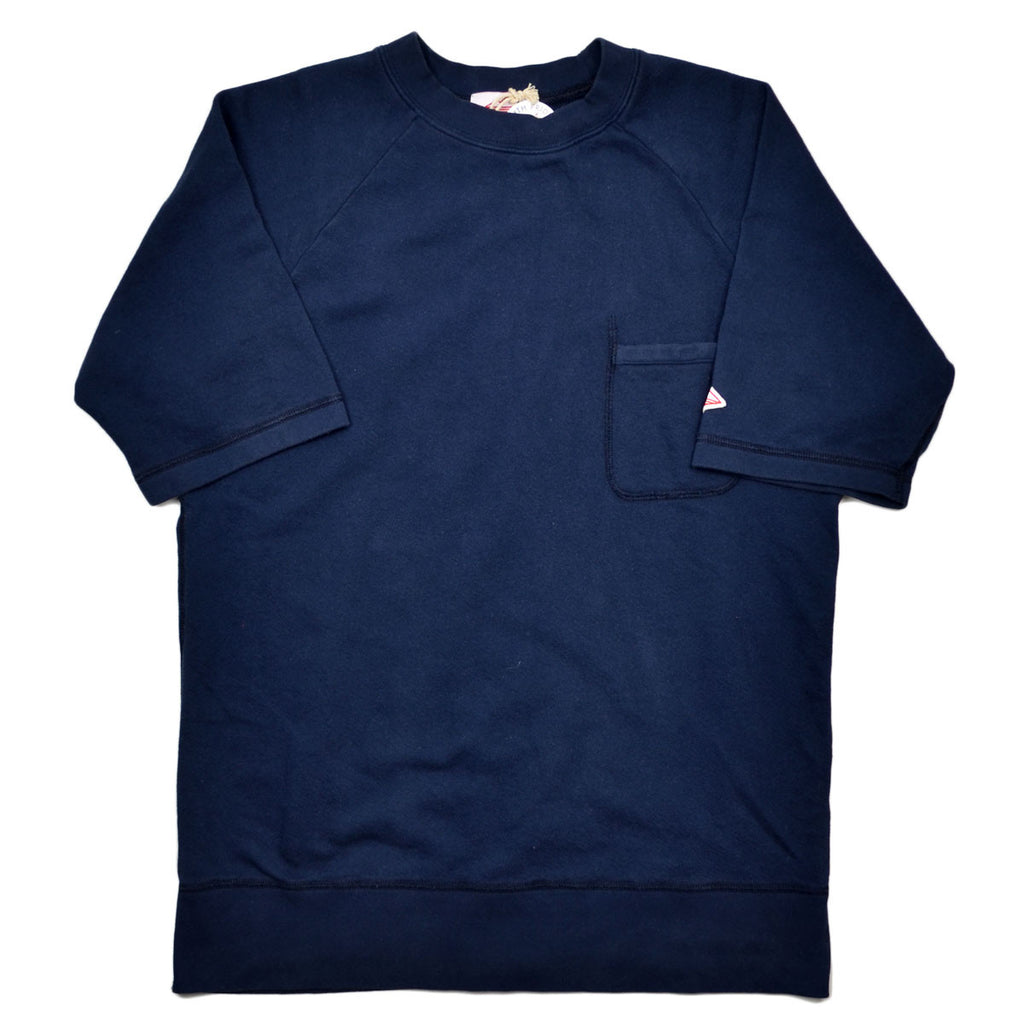 Battenwear - Short-Sleeve Reach-Up Sweatshirt - Navy