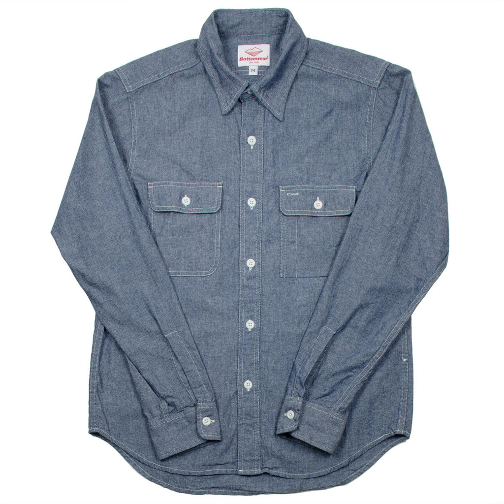 Battenwear - Work Shirt - Indigo Chambray