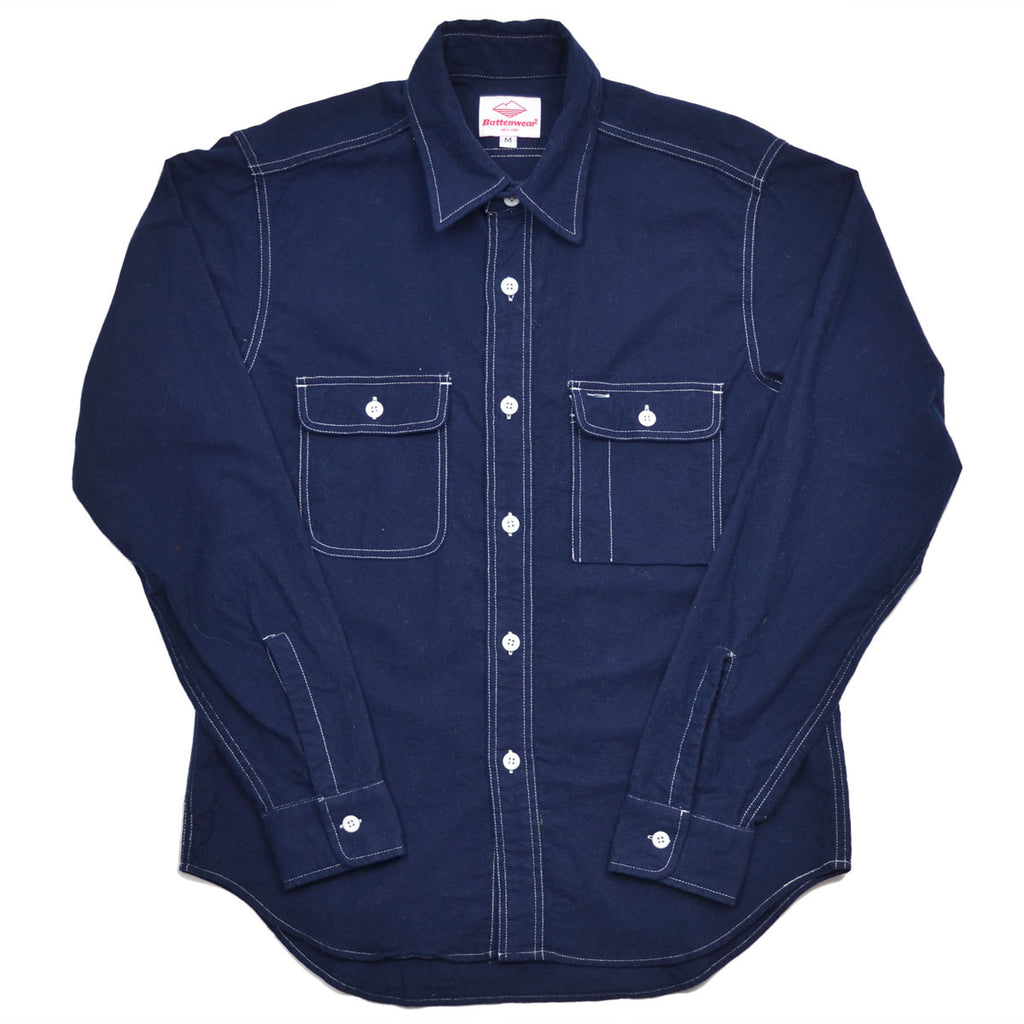 Battenwear - Work Shirt - Navy Flannel