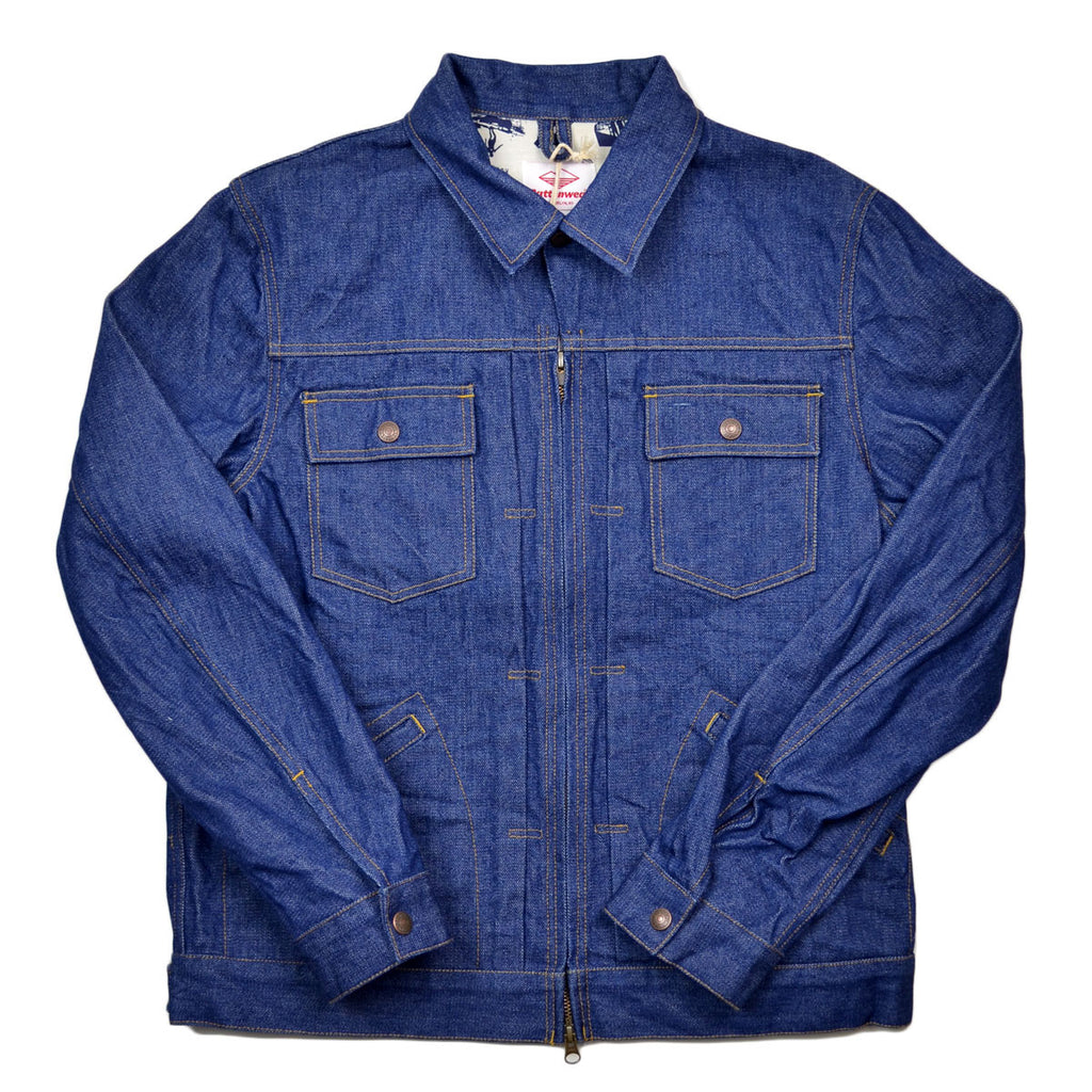 Battenwear - Zip Trucker Jacket - Broken Denim