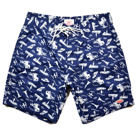 Battenwear – Board Shorts – Navy Custom Print