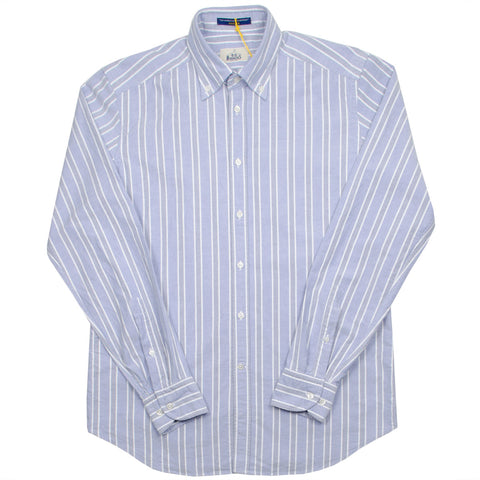 BD Baggies - Bradford BD Shirt - Oxford Striped Blue