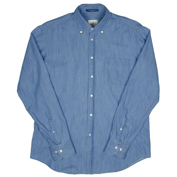 BD Baggies - Bradfort BD Shirt With Pocket - Chambray Light Blue