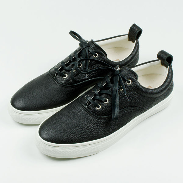 Buddy - Dachs Low Chubby Grain Leather Sneakers - Black