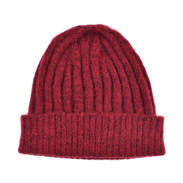 cableami - Shaggy Dog Beanie - Burgundy
