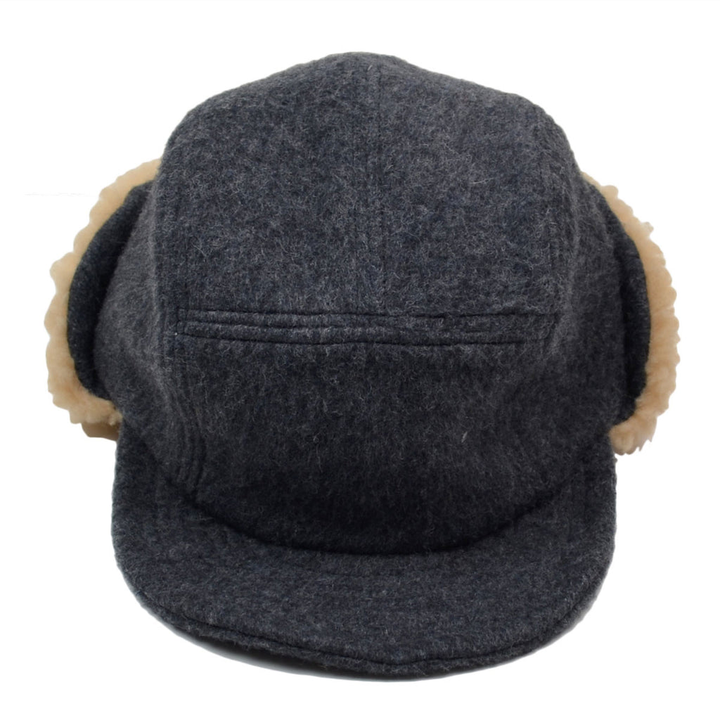 cableami - Army Shaggy Cloth Cap - Grey