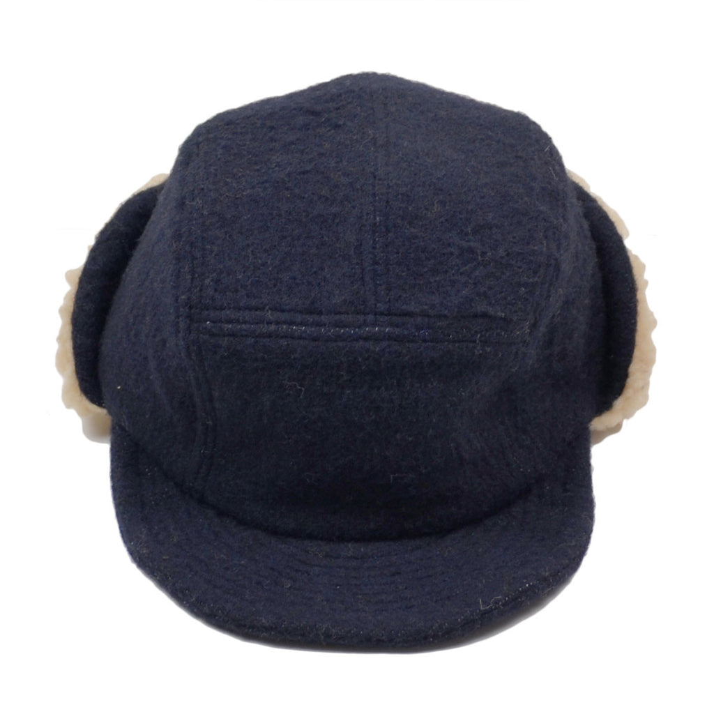 cableami - Army Shaggy Cloth Cap - Navy