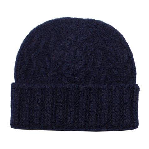 cableami - Cashmere Alan Beanie - Navy
