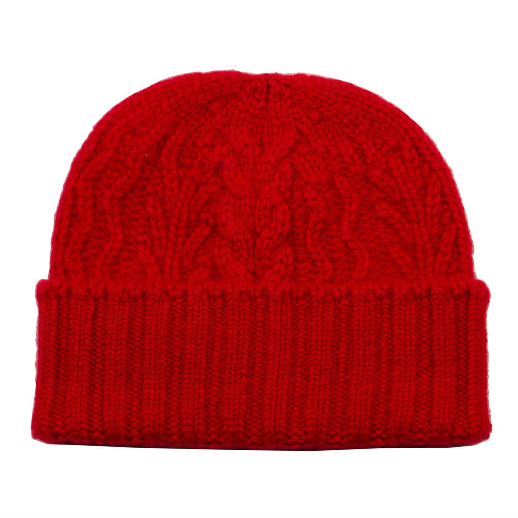 cableami - Cashmere Alan Beanie - Red