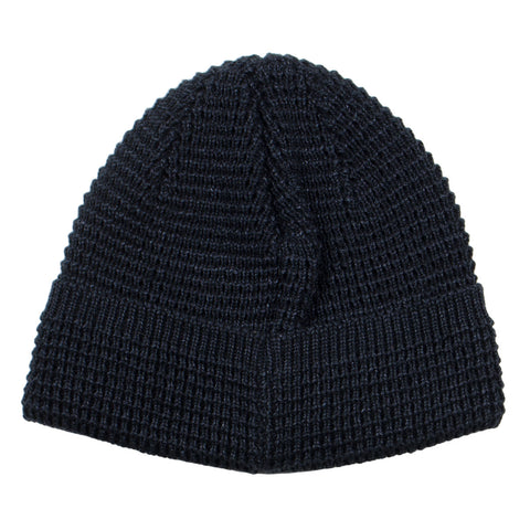 cableami - Denim-like Cotton Beanie - Black