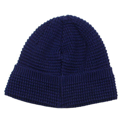cableami - Denim-like Cotton Beanie - Navy