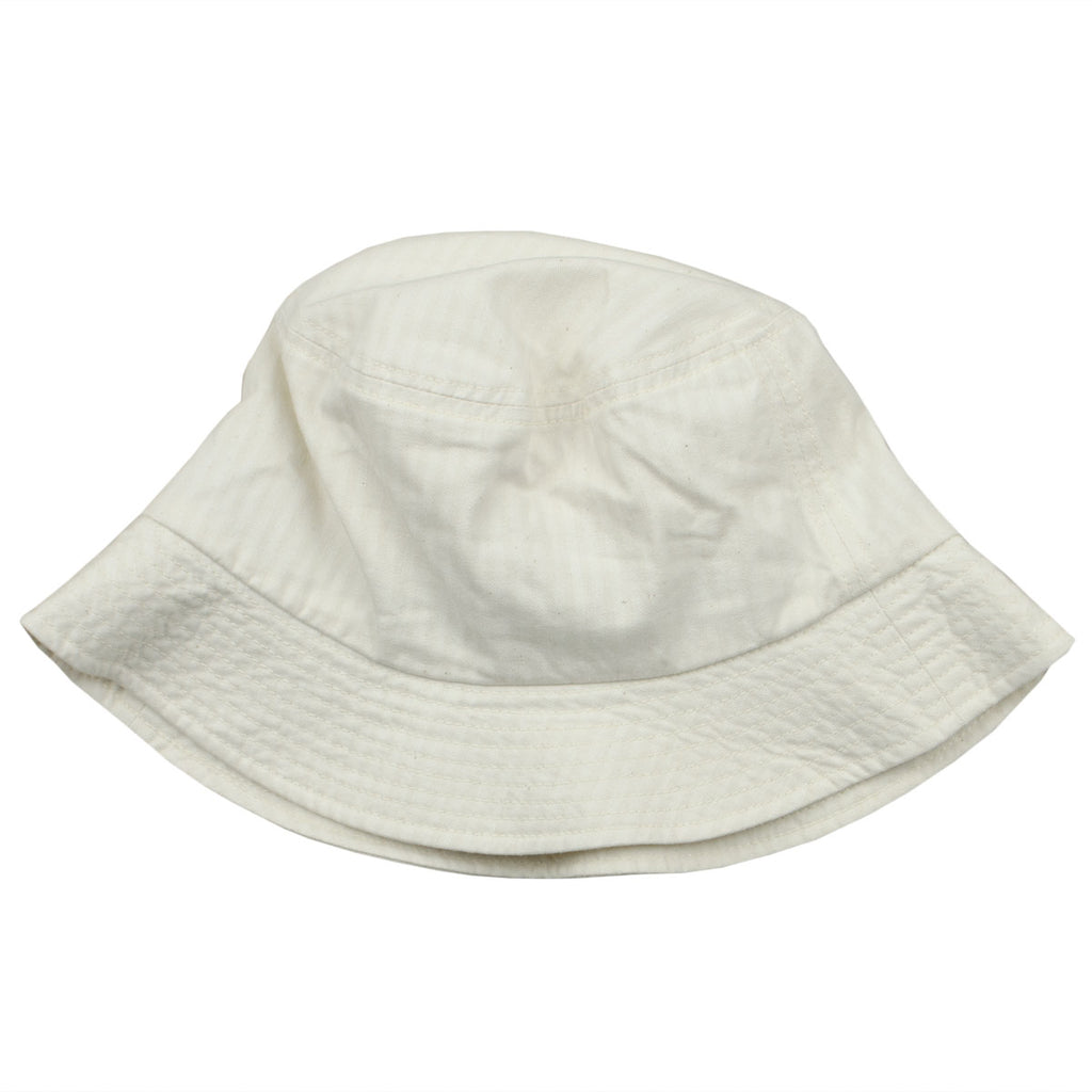 cableami - Herringbone Bucket Hat (Plain) - Ecru