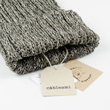 cableami - Linen-like Finished Cotton Beanie - Gray Mix