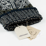 cableami - Linen-like Finished Cotton Beanie - Navy