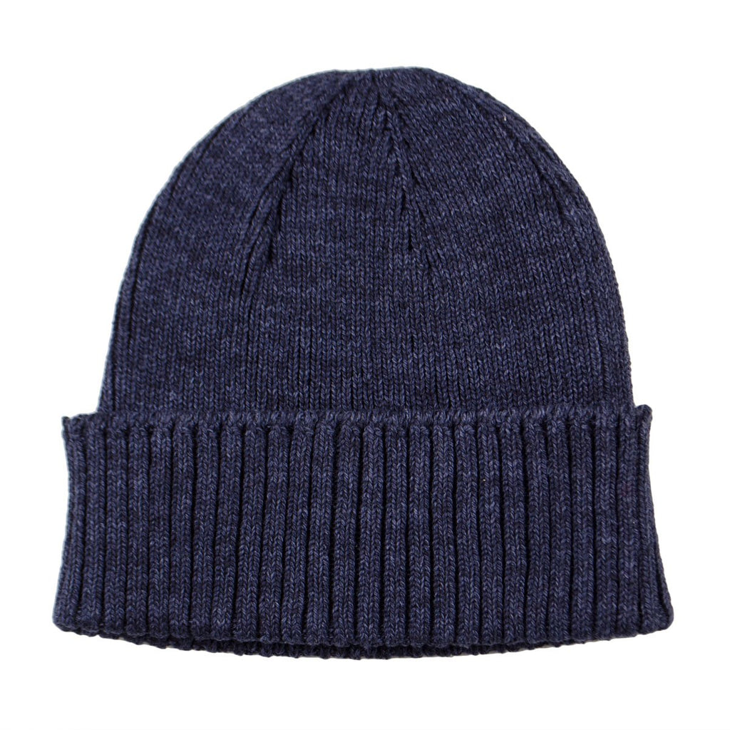 5f095ccdaa8 cableami - Recycled Cotton Rib Stitch Beanie - Indigo – BEAUBIEN
