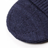 cableami - Recycled Cotton Rib Stitch Beanie - Indigo