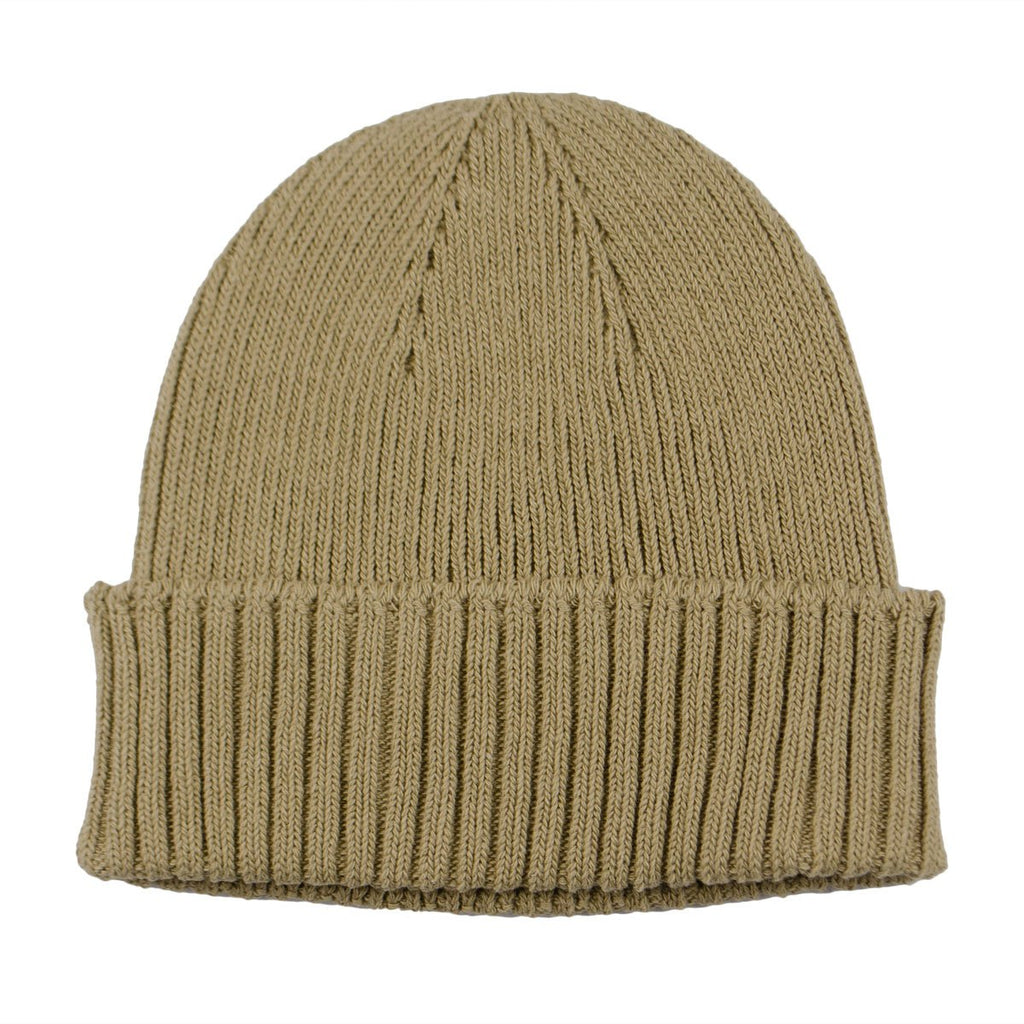 cableami - Recycled Cotton Rib Stitch Beanie - Khaki