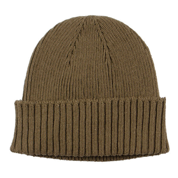 cableami - Recycled Cotton Rib Stitch Beanie - Olive