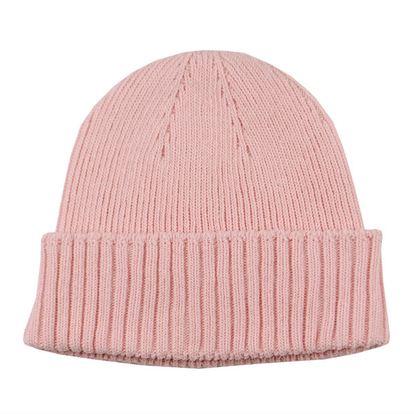 cableami - Recycled Cotton Rib Stitch Beanie - Pink