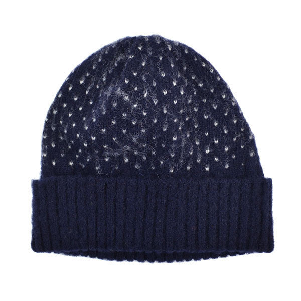 cableami - Shaggy Dog Dot Beanie - Navy