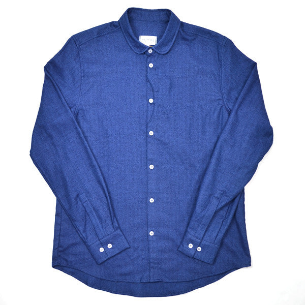 Coltesse - Claudine Blue Lens Shirt - Blue Chevron