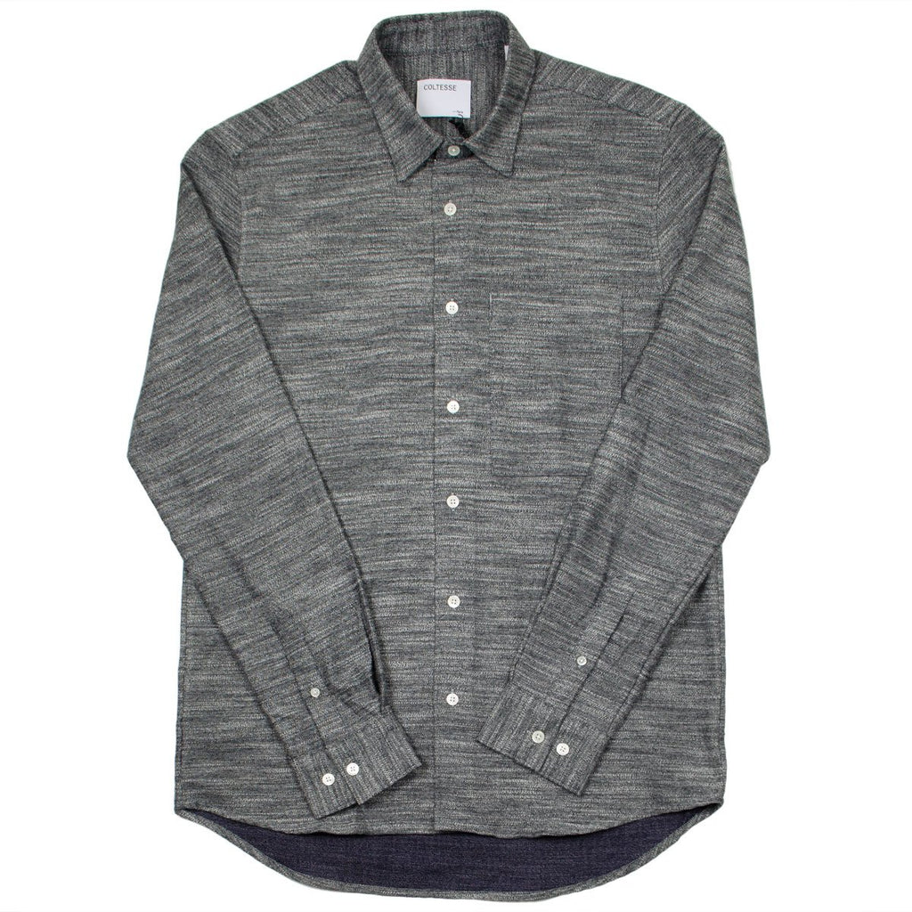 Coltesse - Hydrus Shirt - Mouliné Black & White